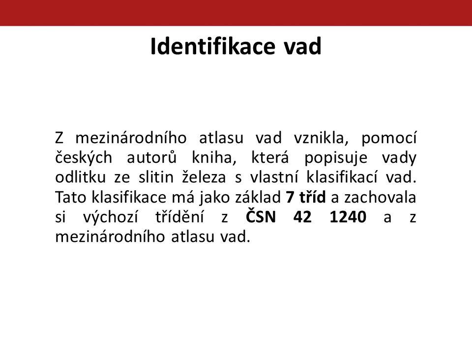 Identifikace vad