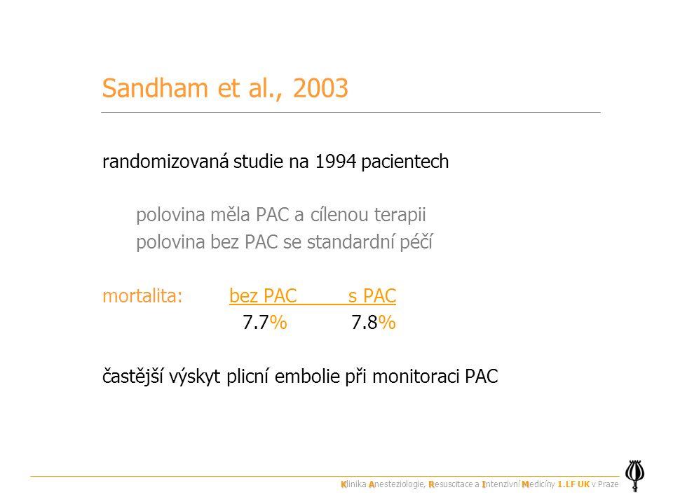 Sandham et al., 2003 randomizovaná studie na 1994 pacientech