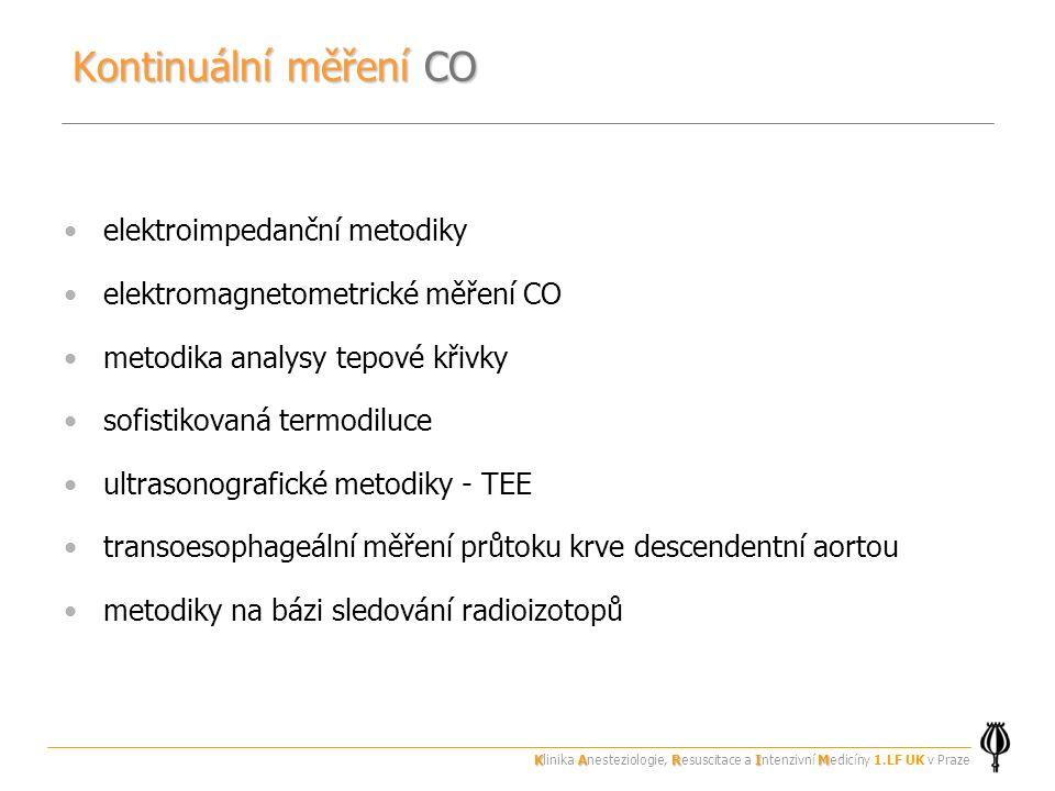 Kontinuální měření CO elektroimpedanční metodiky