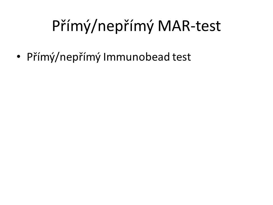 Přímý/nepřímý MAR-test