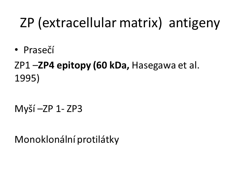 ZP (extracellular matrix) antigeny