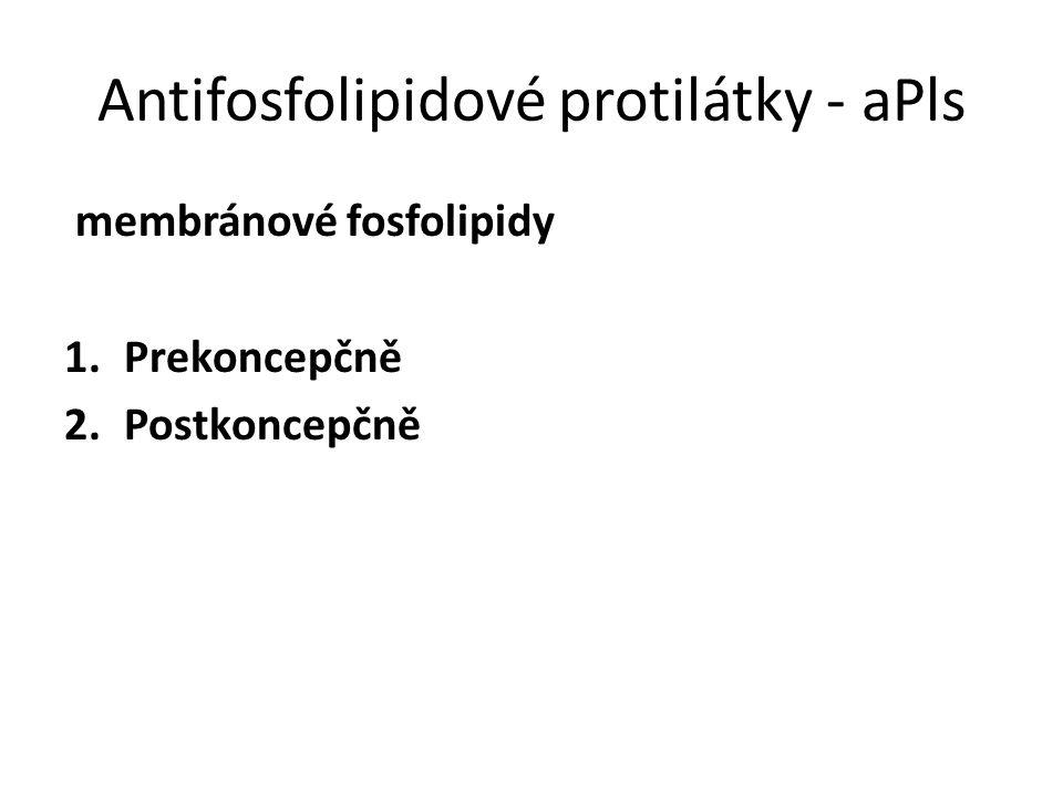 Antifosfolipidové protilátky - aPls