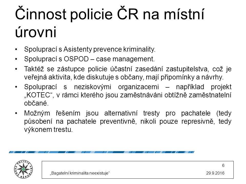 Činnost policie ČR na místní úrovni