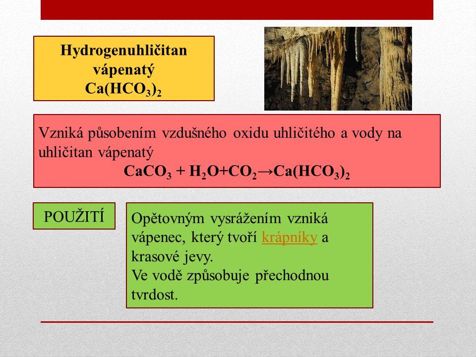 Hydrogenuhličitan vápenatý