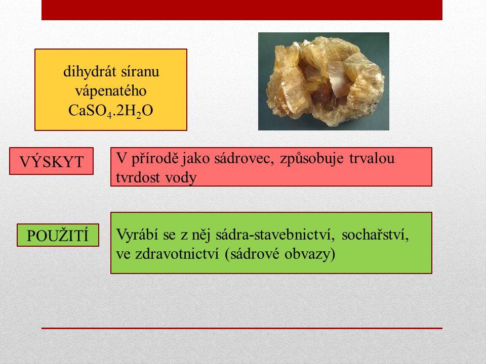 dihydrát síranu vápenatého