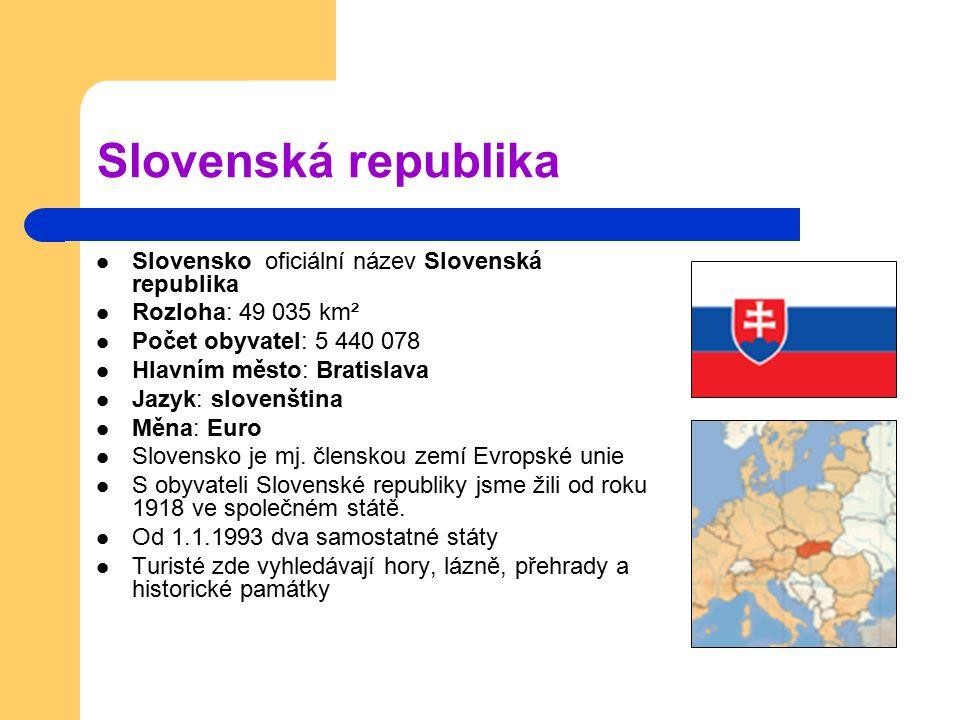 Slovenská republika Slovensko oficiální název Slovenská republika