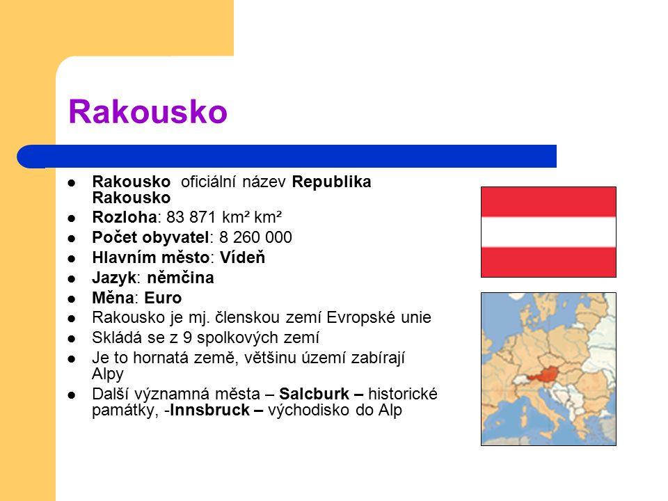 Rakousko Rakousko oficiální název Republika Rakousko