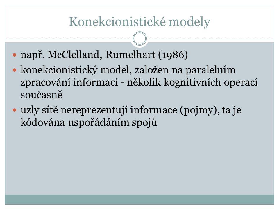 Konekcionistické modely