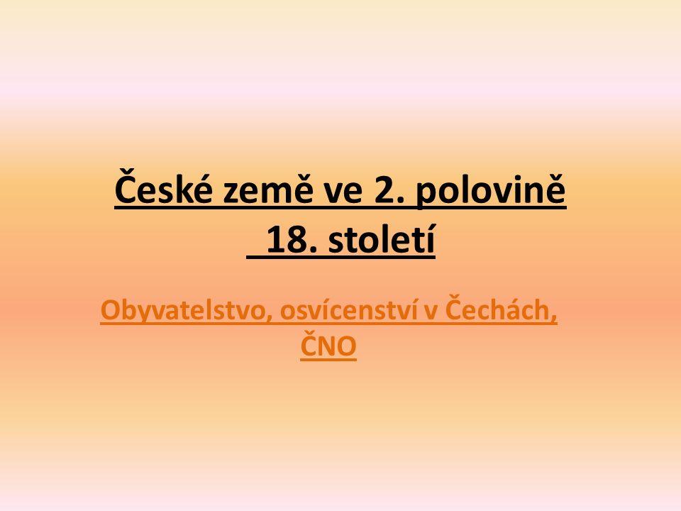 České země ve 2. polovině 18. století