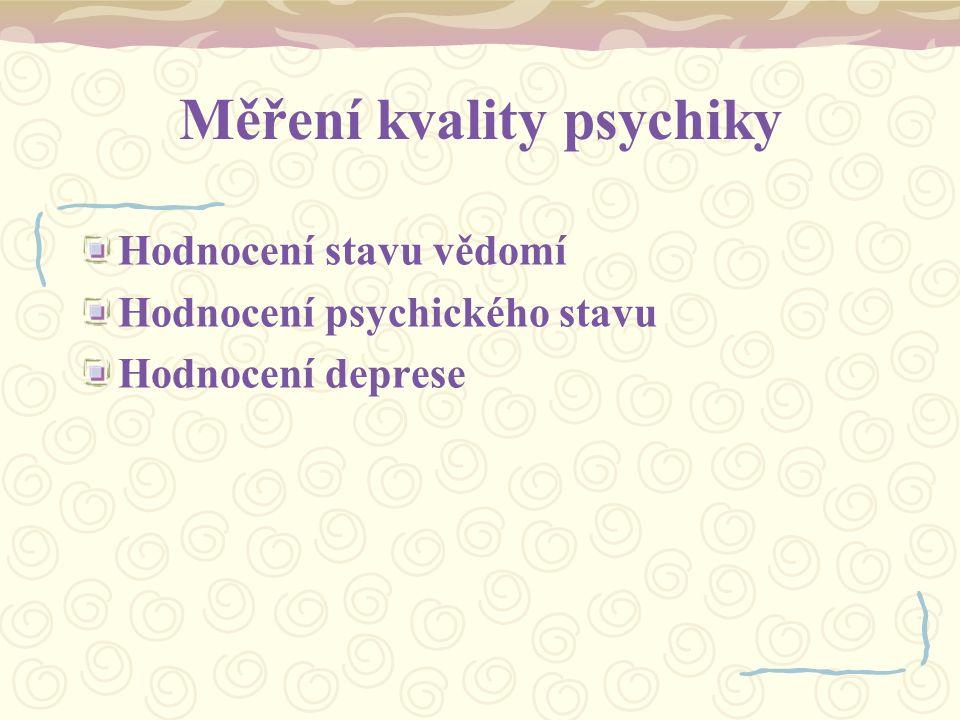 Měření kvality psychiky