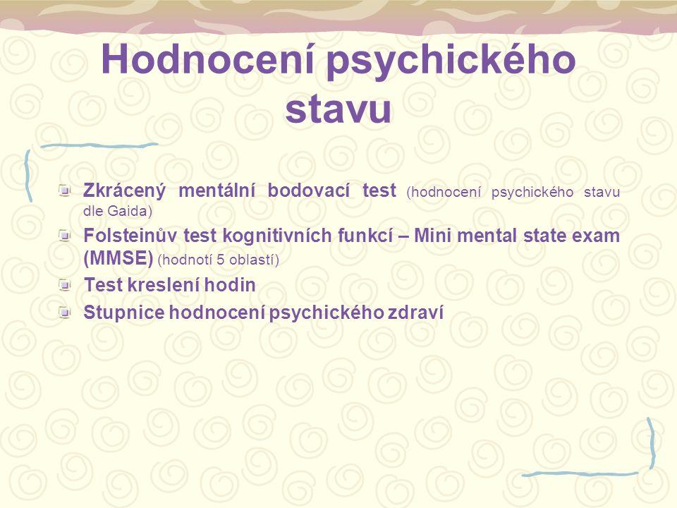 Hodnocení psychického stavu