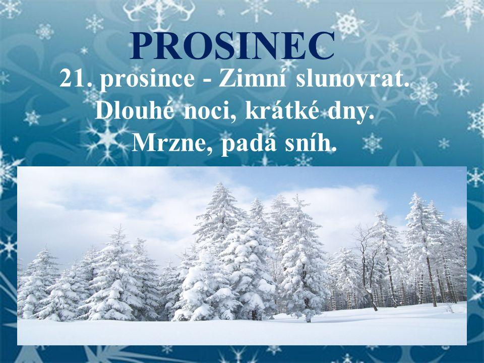 21. prosince - Zimní slunovrat.