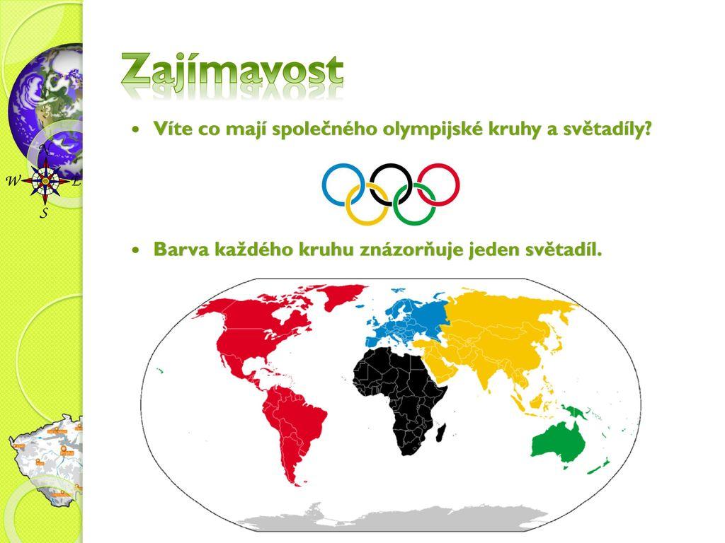 Zajímavost Víte co mají společného olympijské kruhy a světadíly