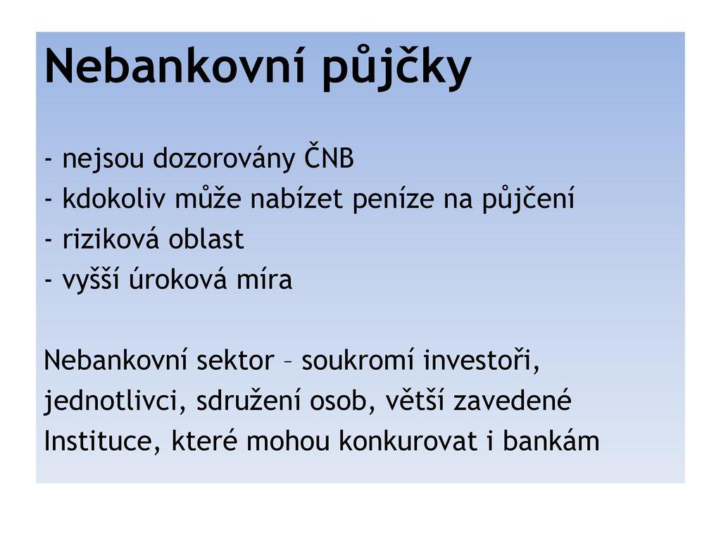 Půjčky typy