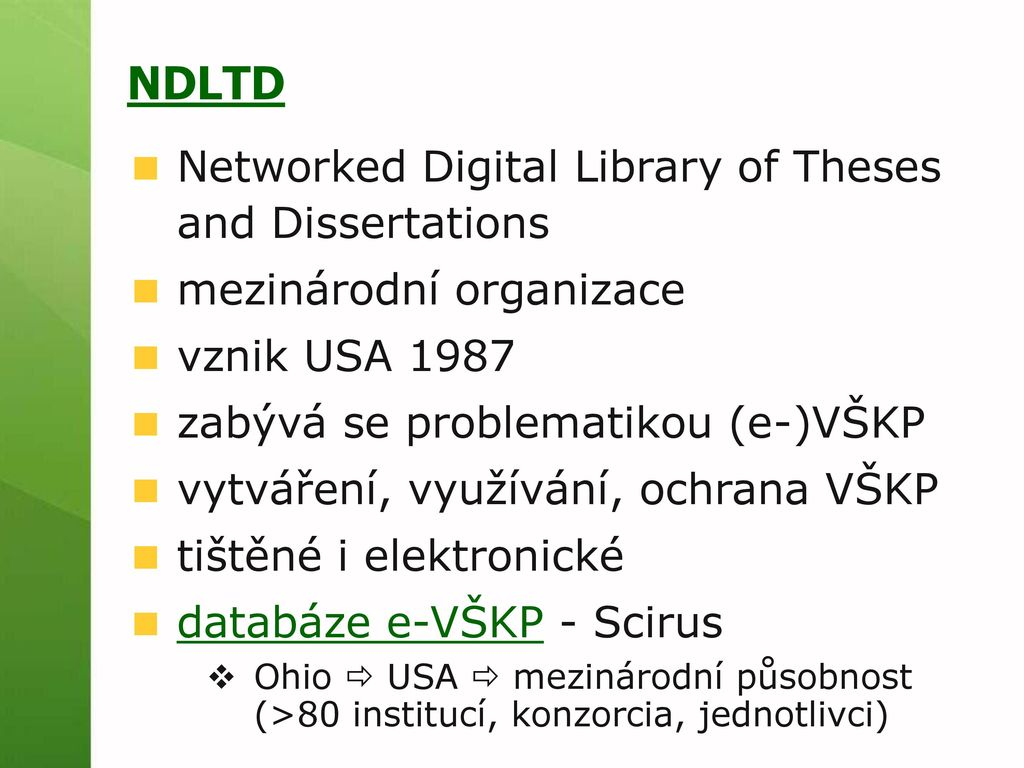 brazilian digital library of theses and dissertations Networked digital library of theses and dissertations (ndltd): international organization dedicated to promoting the adoption, creation, use, dissemination.