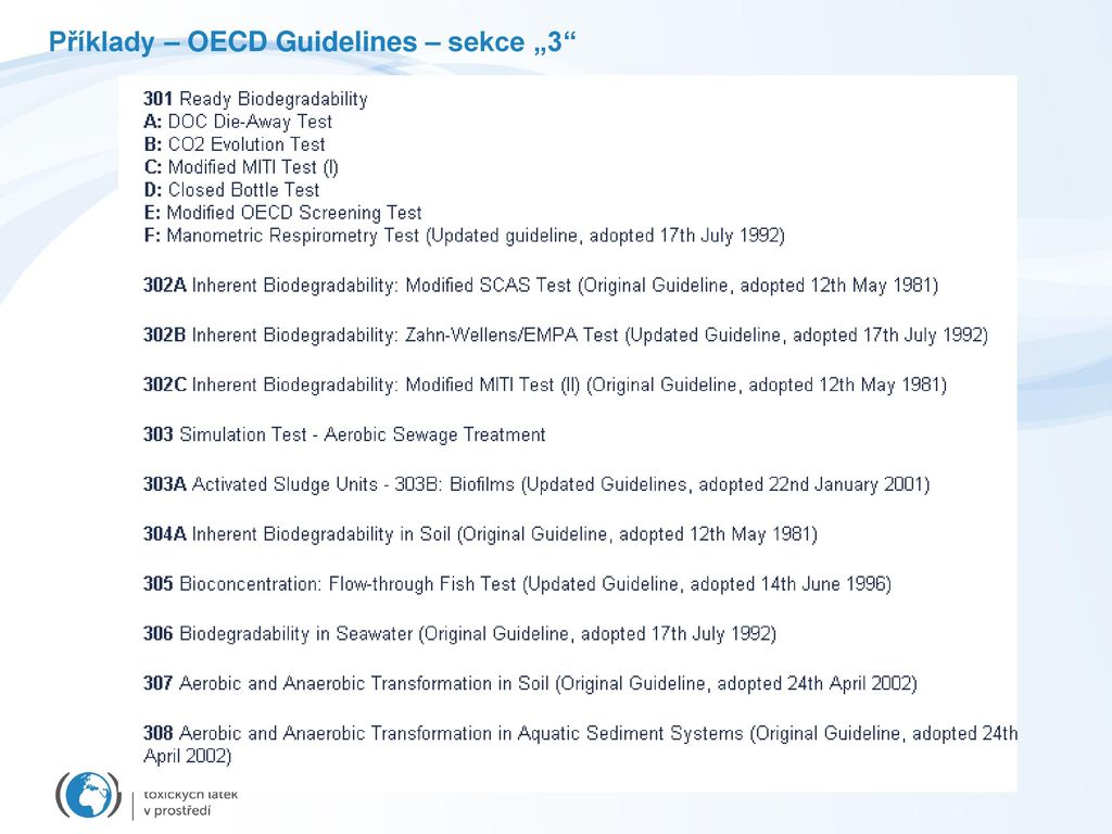 Oecd Guidelines For Physical Chemical Properties