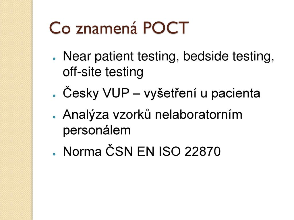 ISOE Point-of-Care Testing (POCT) - Requirements