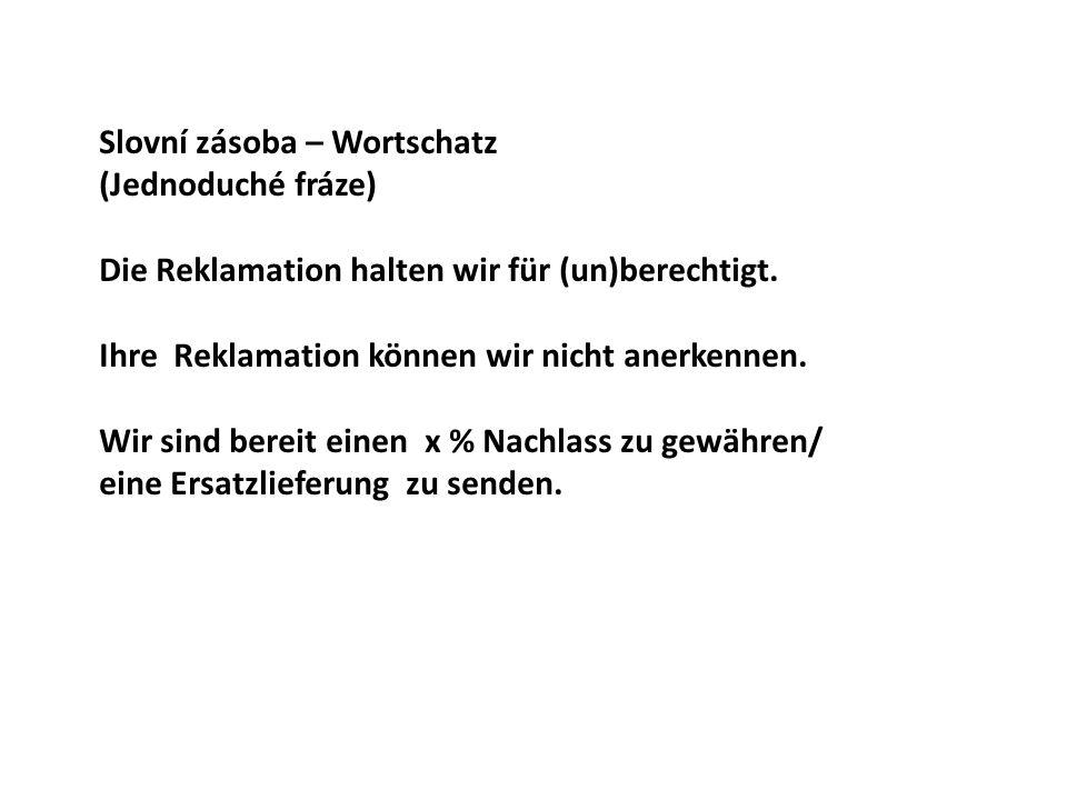 Slovní zásoba – Wortschatz