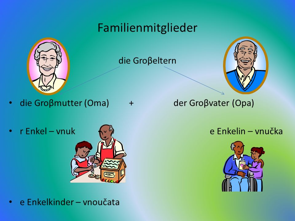 Familienmitglieder die Groβeltern