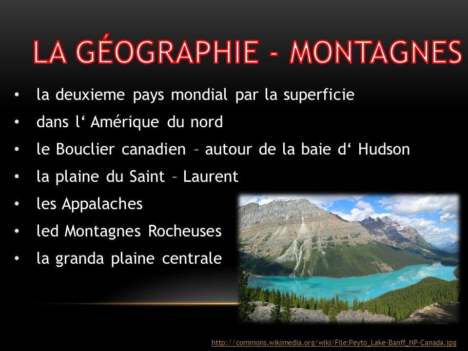 LA GÉOGRAPHIE - MONTAGNES