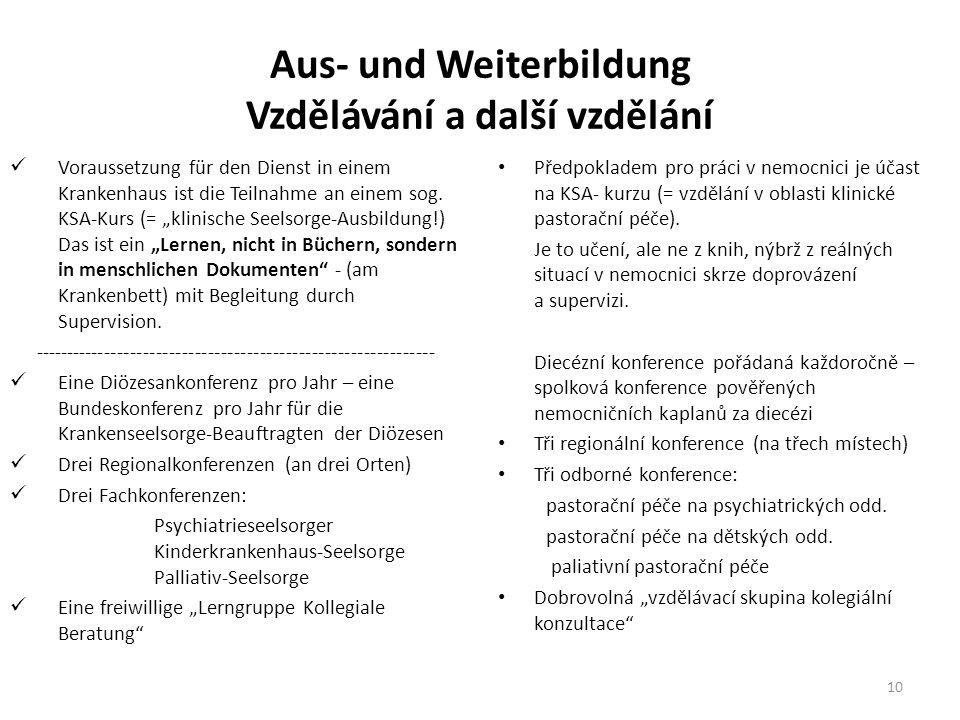 Aus- und Weiterbildung Vzdělávání a další vzdělání