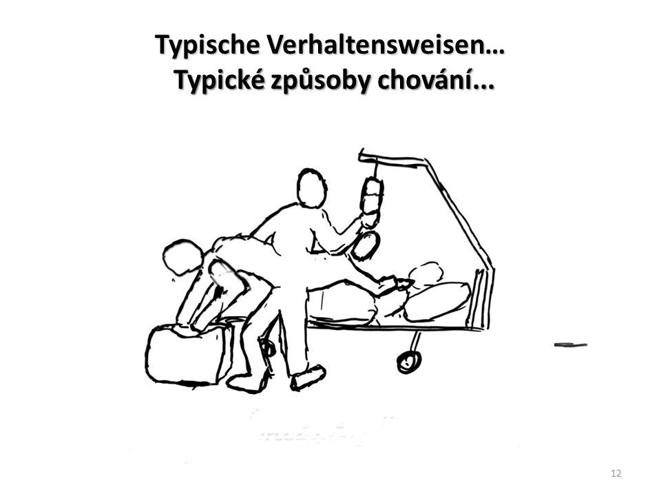 Typische Verhaltensweisen… Typické způsoby chování...
