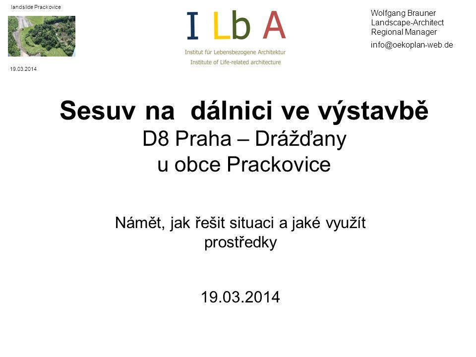 Sesuv na dálnici ve výstavbě D8 Praha – Drážďany u obce Prackovice