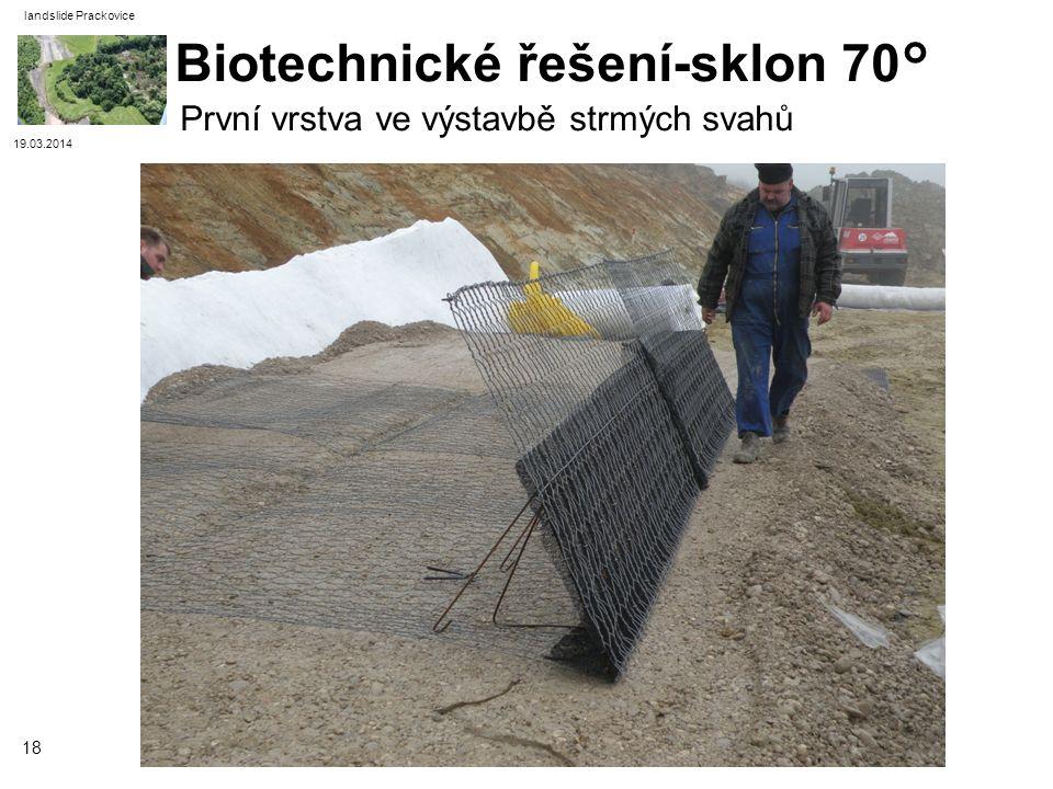Biotechnické řešení-sklon 70°
