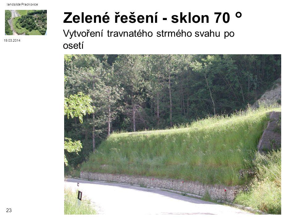 Zelené řešení - sklon 70 ° Vytvoření travnatého strmého svahu po osetí
