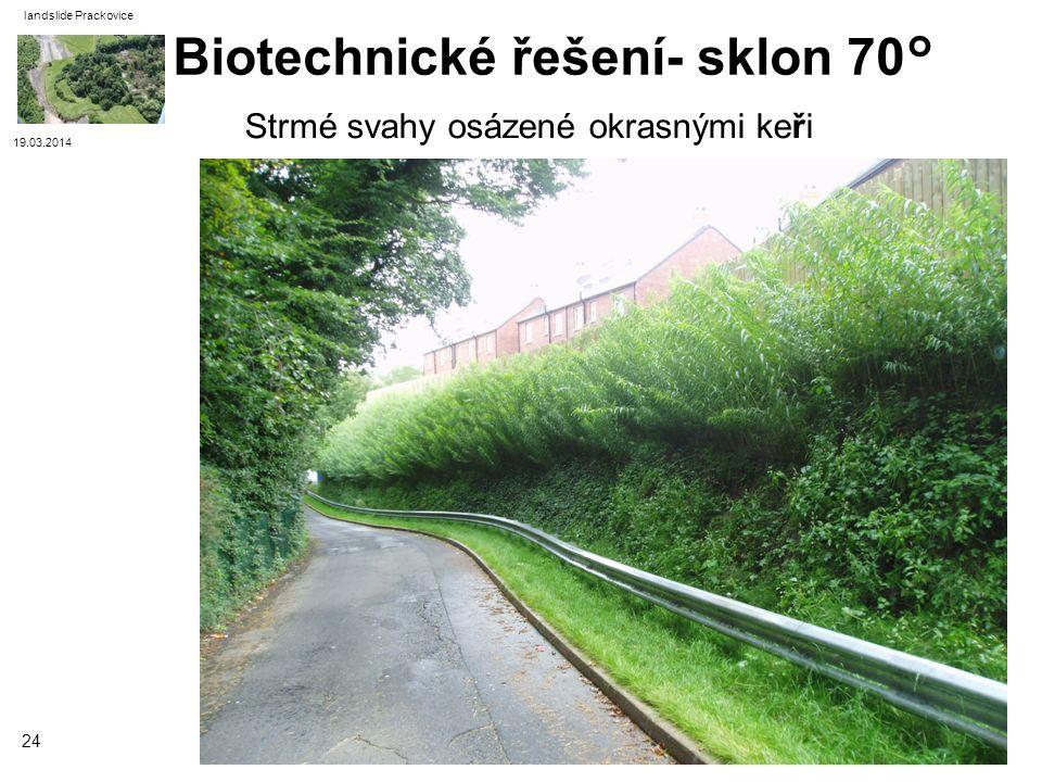 Biotechnické řešení- sklon 70°