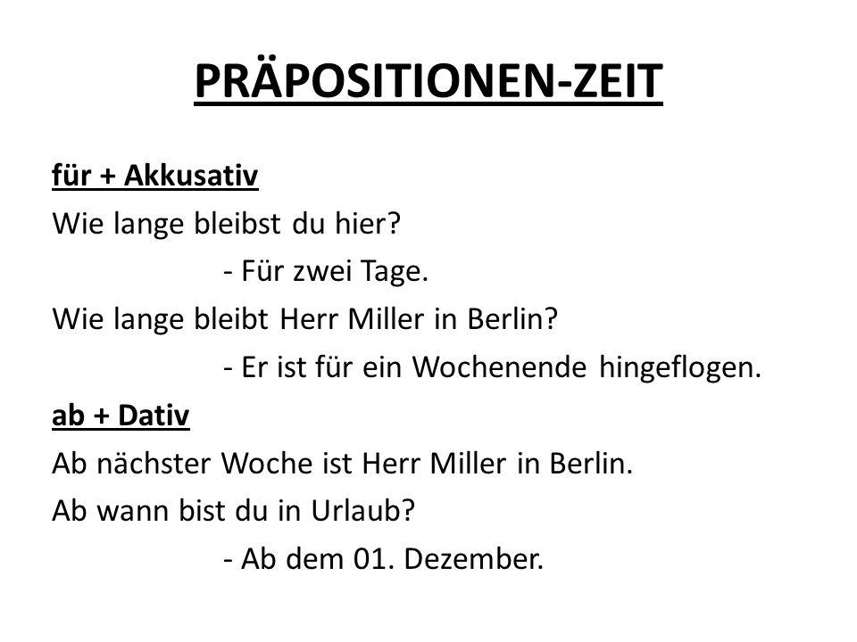 PRÄPOSITIONEN-ZEIT