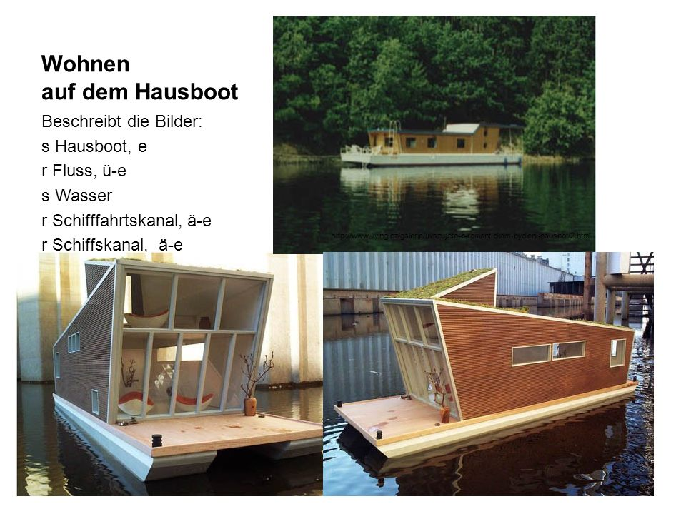 Wohnen auf dem Hausboot