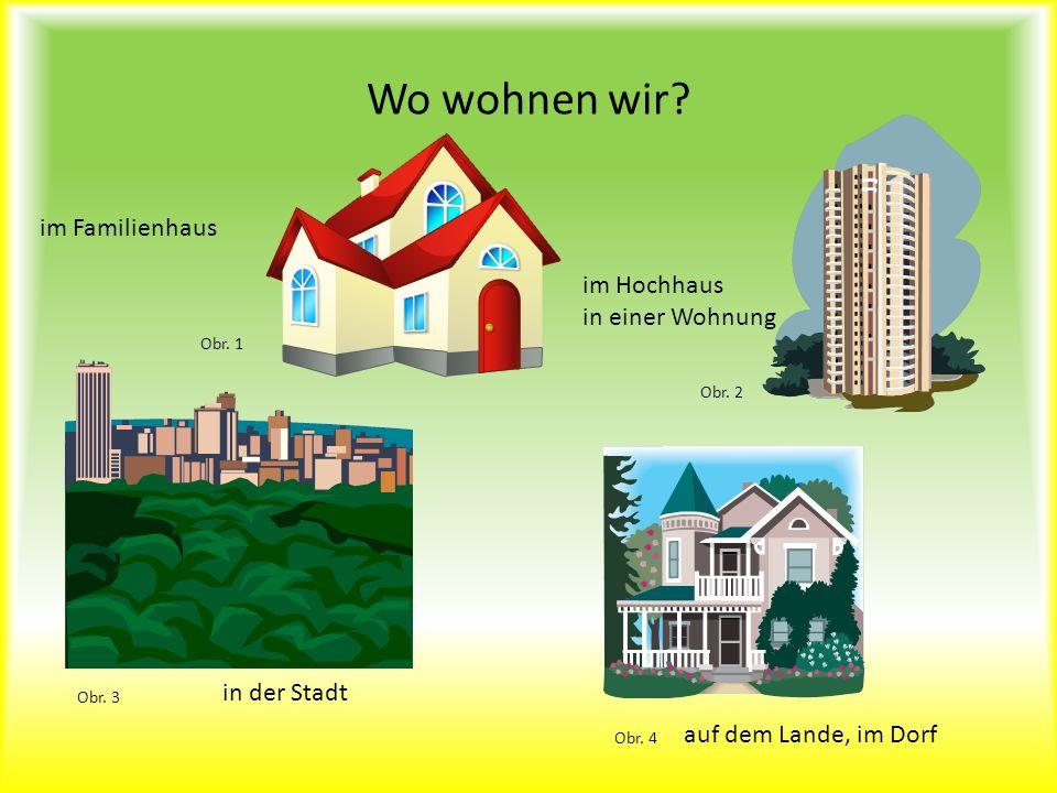 Wo wohnen wir im Familienhaus im Hochhaus in einer Wohnung