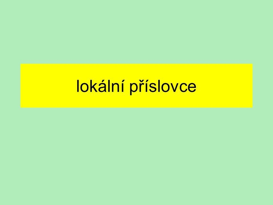 lokální příslovce