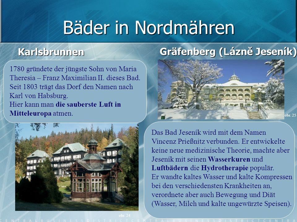Bäder in Nordmähren Karlsbrunnen Gräfenberg (Lázně Jeseník)