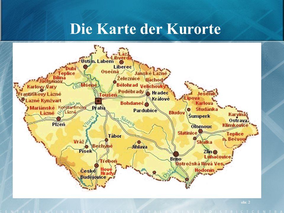 Die Karte der Kurorte obr. 2