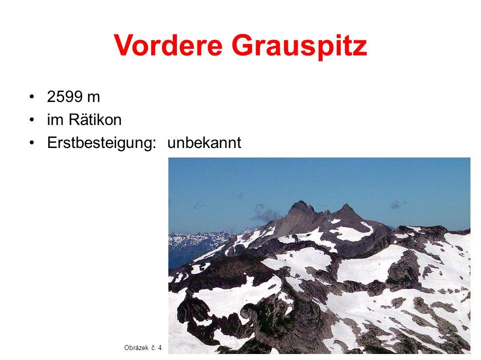 Vordere Grauspitz 2599 m im Rätikon Erstbesteigung: unbekannt
