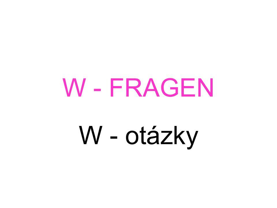 W - FRAGEN W - otázky