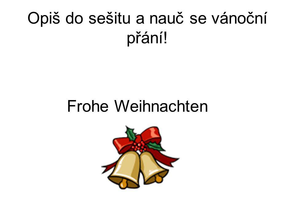 Opiš do sešitu a nauč se vánoční přání!