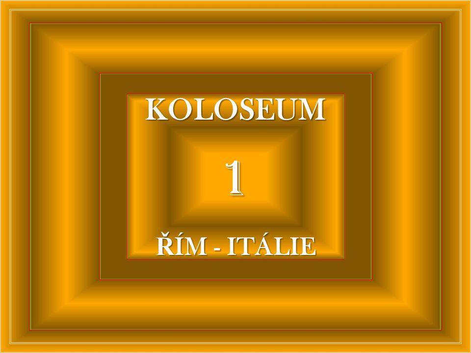 KOLOSEUM 1 ŘÍM - ITÁLIE