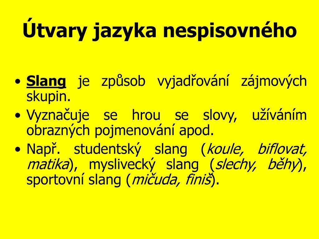 Studentský slang