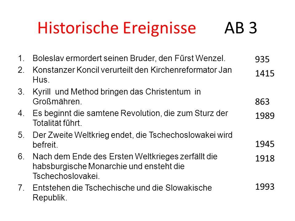 Historische Ereignisse AB 3