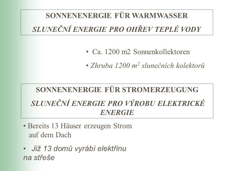 SONNENENERGIE FÜR WARMWASSER SLUNEČNÍ ENERGIE PRO OHŘEV TEPLÉ VODY