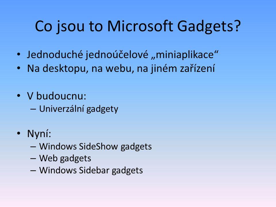 Co jsou to Microsoft Gadgets