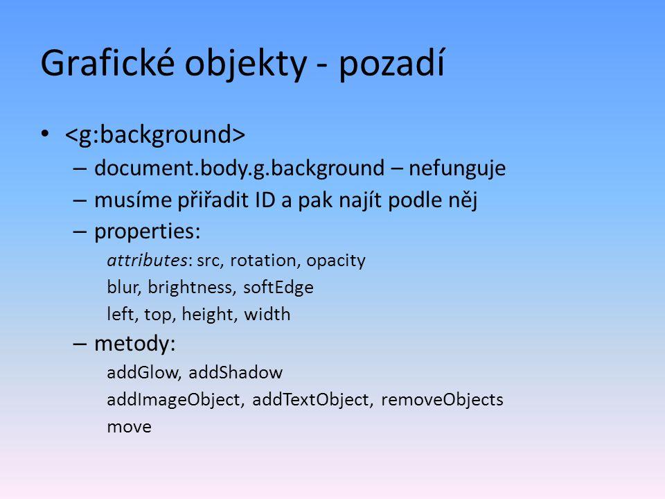 Grafické objekty - pozadí