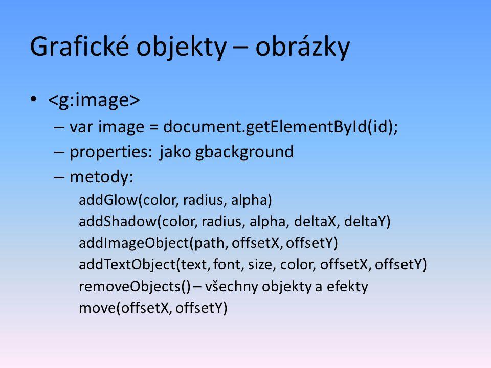 Grafické objekty – obrázky