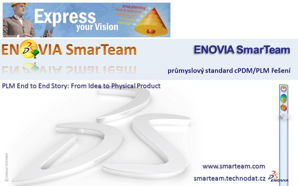 ENOVIA SmarTeam průmyslový standard cPDM/PLM řešení