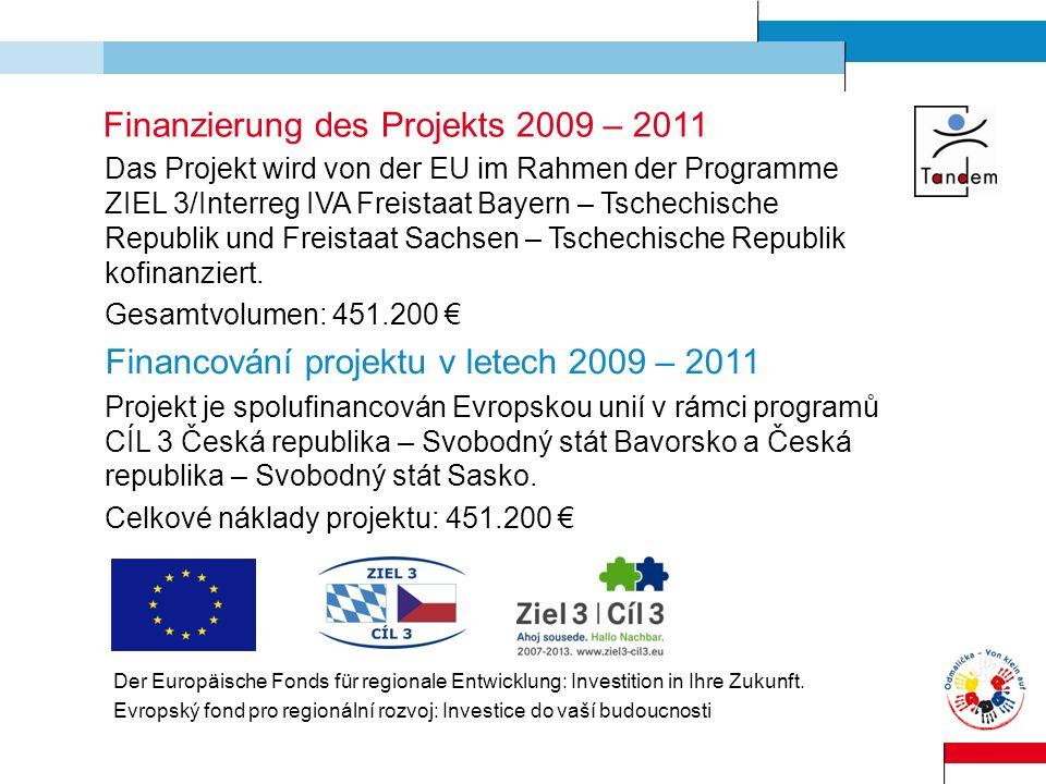 Finanzierung des Projekts 2009 – 2011