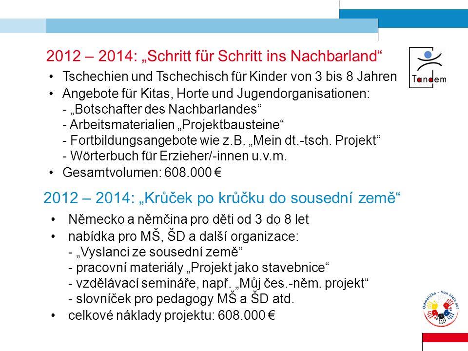 "2012 – 2014: ""Schritt für Schritt ins Nachbarland"