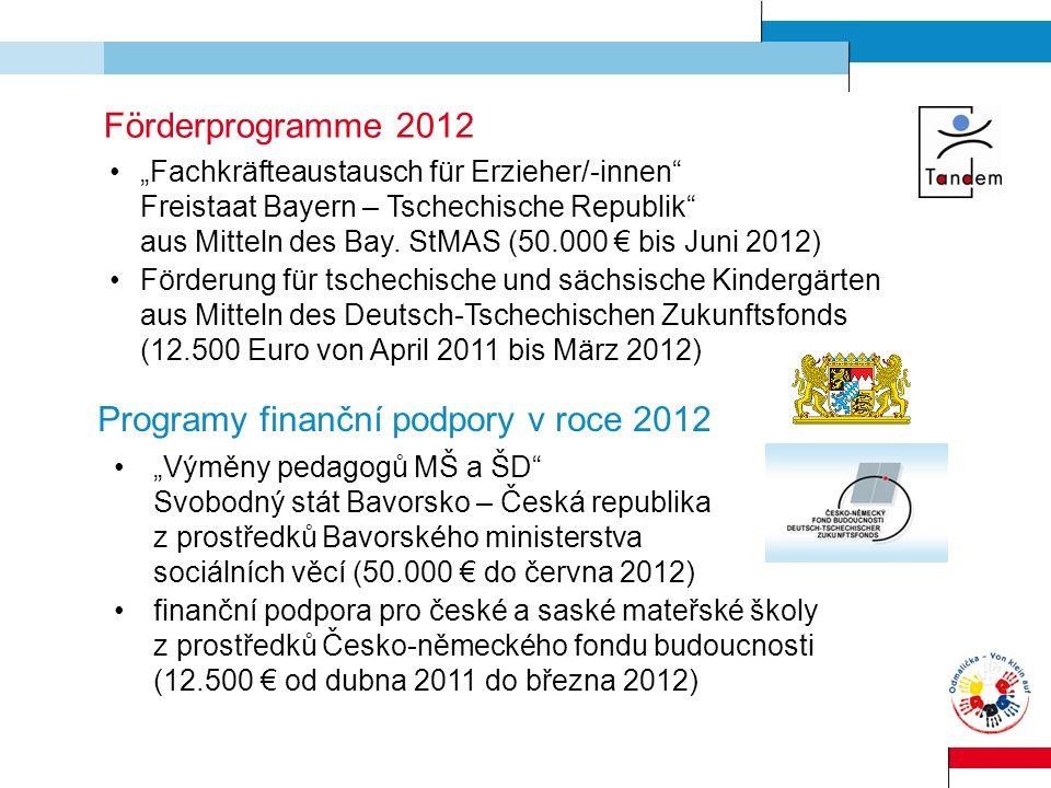 Programy finanční podpory v roce 2012